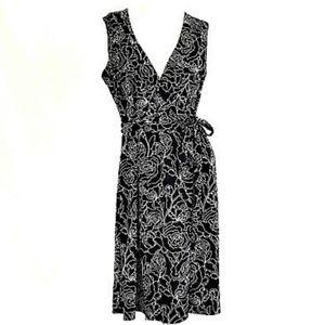 ANN TAYLOR WRAP DRESS SUNDRESS SUMMER DRESS WORK M